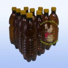 Бутылки ПЭТ с пробкой, темные, 1 л. (10 шт)