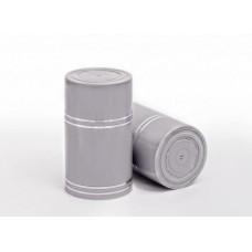 Колпачок ГУАЛА, серый - серебрянная полоса, 10 шт.