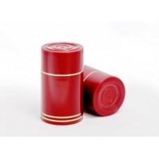 Колпачок ГУАЛА, красный - золотая полоса, 10 шт.